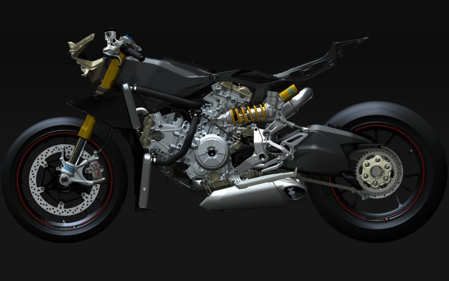 XXX: Ducati 1199 Panigale Naked Ducati 1199 Panigale frame CAD 03 635x397