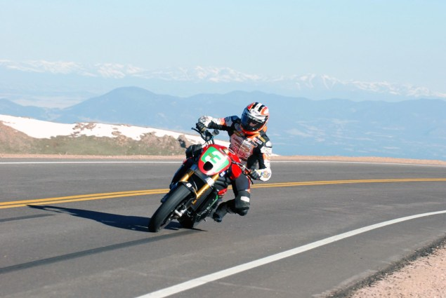 Joe Kopp & The Fastest Triumph at Pikes Peak Joe Kopp Pikes Peak 2011 PPIHC Triumph action 4 635x425