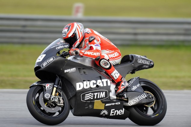 MotoGP: Test Results & Photos from Day 1 at Sepang Ducati Corse Sepang Test Nicky Hayden 1 635x422