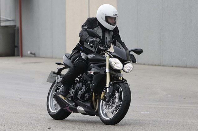 Spy Photos: 2013 Triumph Street Triple 2013 Triumph Street Triple spy photos 021 635x419