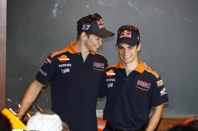 Caption This Photo: I Must Break You Casey Stoner Dani Pedrosa Repsol Honda 635x421