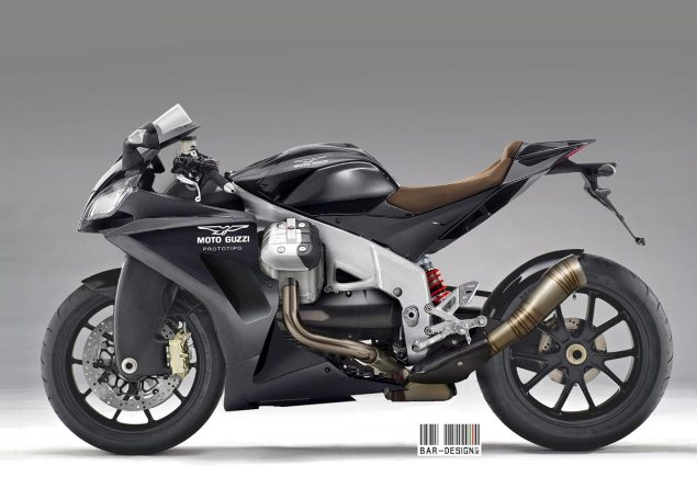 Moto Guzzi Sportbike Concept by Luca Bar Design Moto Guzzi sport bike Luca Bar Design 635x445