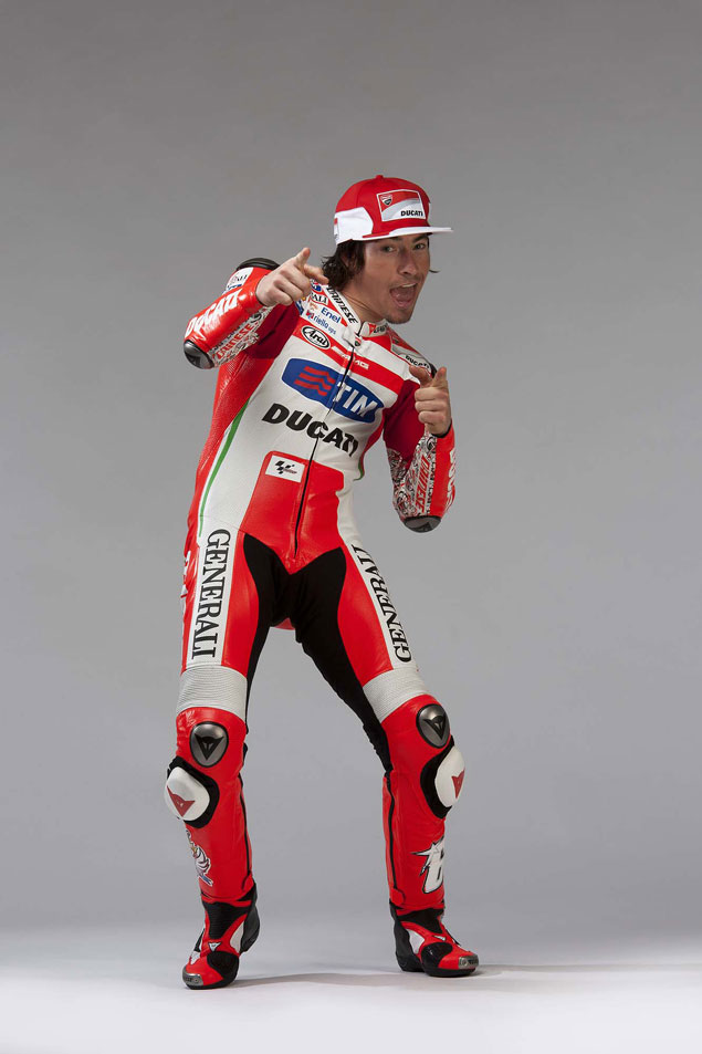 Caption This Photo: Shooter McGavin Nicky Hayden Ducati Corse Livery 2012 crop