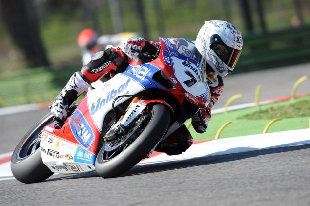 WSBK: Race Results for Race 1 at Imola Carlos Checa Althea Ducati WSBK Imola 2012 635x422