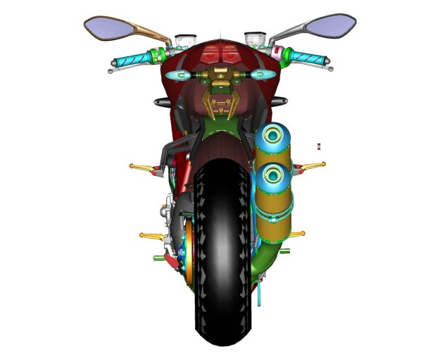 CAD Drawings of the Ducati Streetfighter 848 Ducati Streetfighter 848 CAD 16 635x506