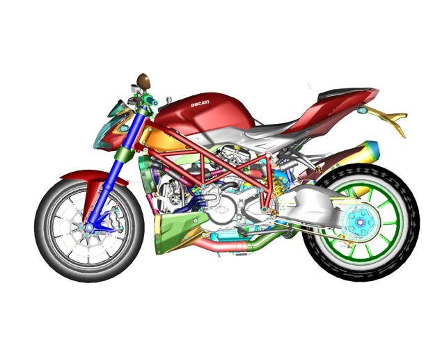CAD Drawings of the Ducati Streetfighter 848 Ducati Streetfighter 848 CAD 17 635x506