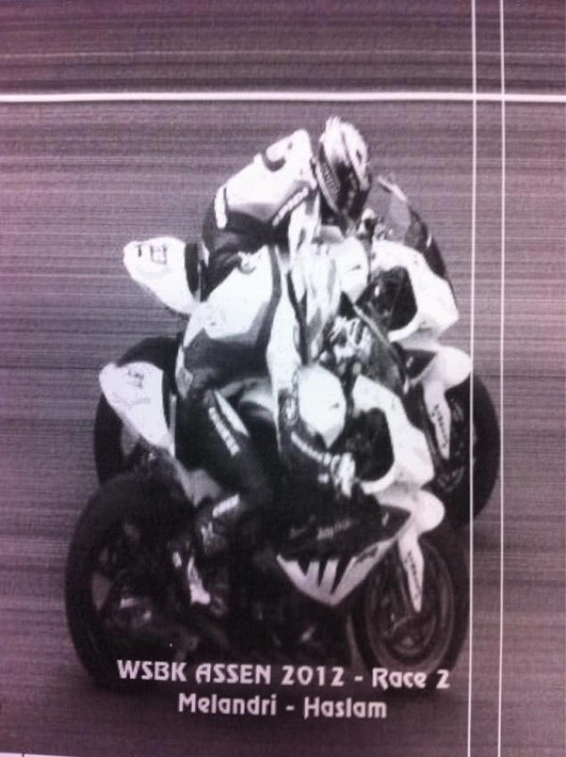 Photo: It Doesnt Get Any Closer Than This at Assen Marco Melandri Leon Haslam Assen Race 2 photo finish WSBK