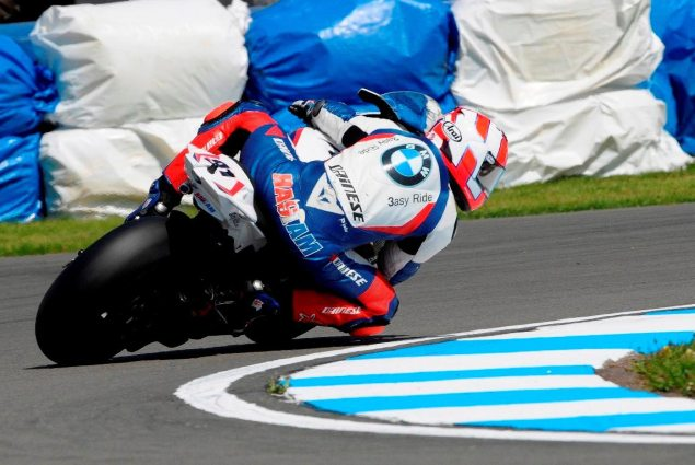 WSBK: Race 1 Shows New Contenders at Donington Park Leon Haslam WSBK Donington Park BMW 635x425