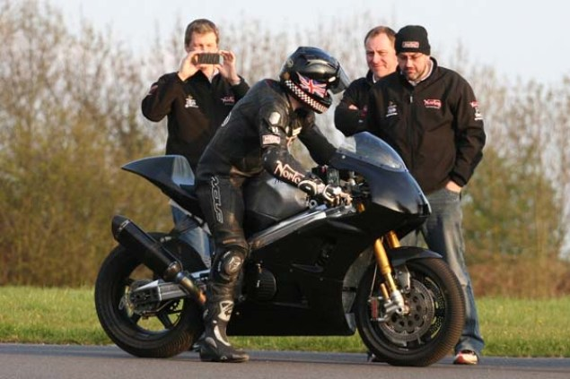 Norton V4 Gets Shakedown Test Ahead of Isle of Man TT Norton V4 Isle of Man TT test 01