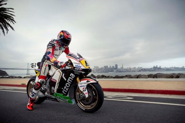 LCR Hondas Stefan Bradl Rides thru San Francisco LCR Honda Stefan Bradl San Francisco US GP 06 635x423