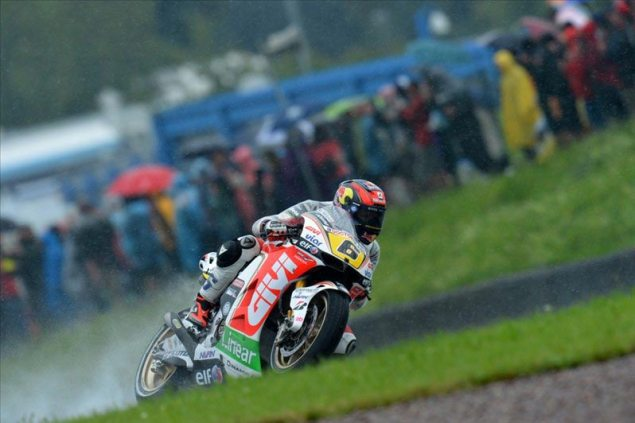 MotoGP: Rain Provides Exciting Qualifying at Sachsenring Stefan Bradl LCR Honda Sachsenring 635x423