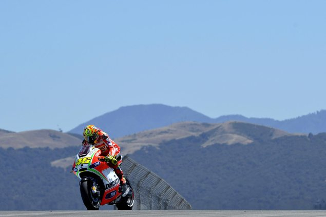 MotoGP: Valentino Rossi to Yamaha   For Reals this Time Valentino Rossi Ducati Laguna Seca 635x423