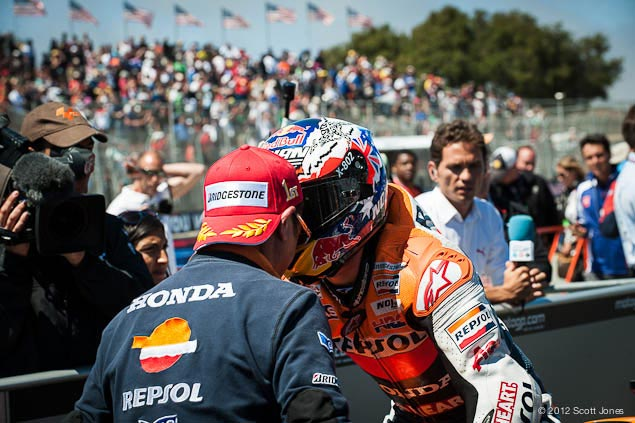 Casey Stoner: Its Pretty Much Finished Our Championship casey stoner laguna seca scott jones