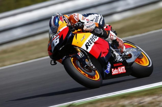 Friday Summary at Brno: Of Red Flags, Fast Ducatis, & Future Ducati Riders dani pedrosa repsol honda motogp brno 635x421