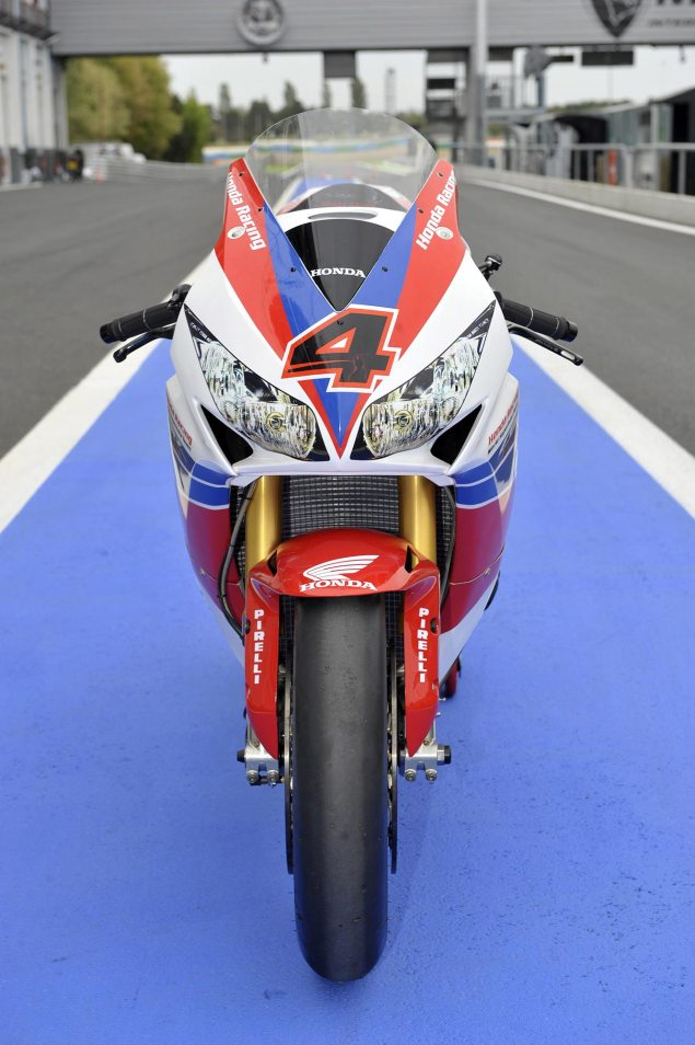 Honda WSBK Switches to 2013 Livery for Magny Cours 2013 Honda CBR1000RR WBSK 01 635x954