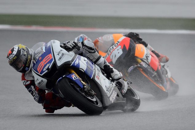 Sunday Summary at Sepang: Of Championships, Red Flags, Rulebooks, & Riders on a Roll Dani Pedrosa Jorge Lorenzo MotoGP Sepang 635x425
