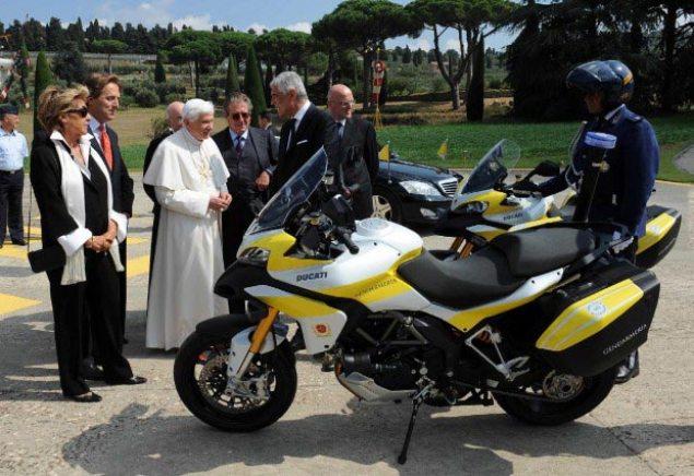 Pope Benedict XVI Gets Two Ducati Multistradas Pope Benedict XVI Ducati Multistrada 1200
