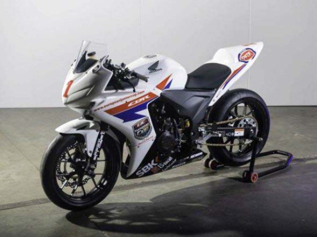 First Look at the Honda CBR500R Race Bike Honda CBR500R race bike 03