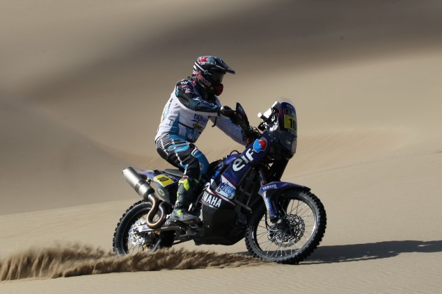 Dakar Rally   Stage 6: Yamaha Leads KTM into Chile David Casteu Yamaha Dakar Rally 635x423