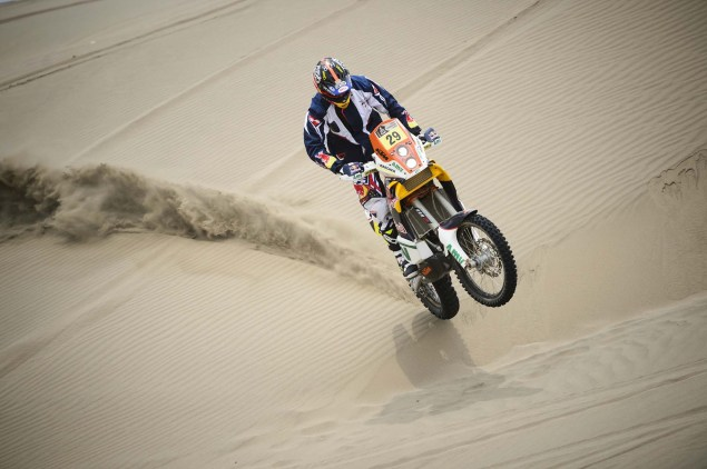 Dakar Rally   Stage 7: American Kurt Caselli Takes First Win Kurt Caselli KTM 2013 Dakar Rally 02 635x422