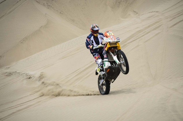 Dakar Rally   Stage 7: American Kurt Caselli Takes First Win Kurt Caselli KTM 2013 Dakar Rally 03 635x422