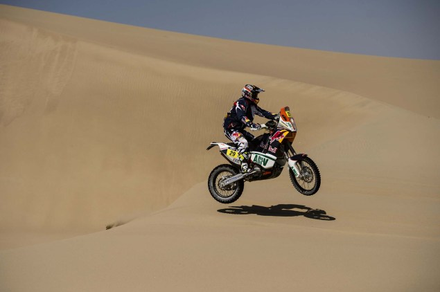 Dakar Rally   Stage 7: American Kurt Caselli Takes First Win Kurt Caselli KTM 2013 Dakar Rally 09 635x422