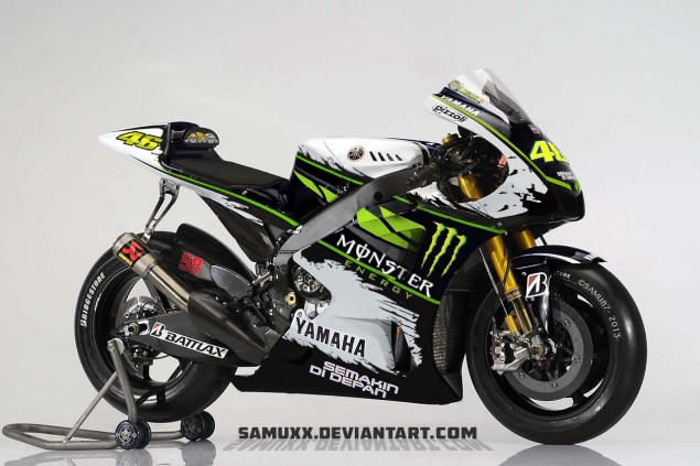 This is Not Rossis New Yamaha MotoGP Livery Valentino Rossi Yamaha Monster livery photoshop 01 635x423
