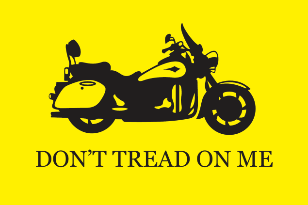 An FAQ on the Petition Against the NHTSAs Funding of Motorcycle Only Checkpoints dont tread on me motorcycle 635x423