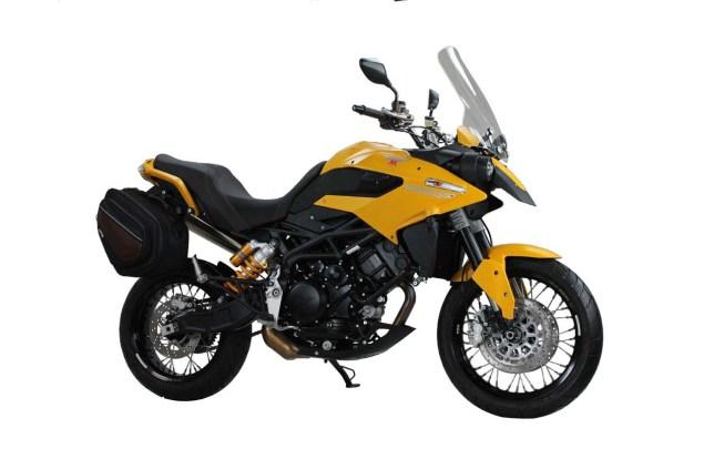 2013 Moto Morini Granpasso & Scrambler Get Price Cuts 2013 Moto Morini Granpasso 1200 Travel Yellow 04 635x423