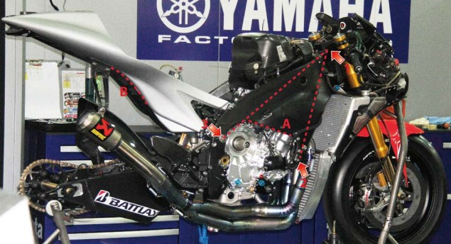 Yamaha YZR M1: 2013 vs. 2006 2013 yamaha yzr m1 no fairings