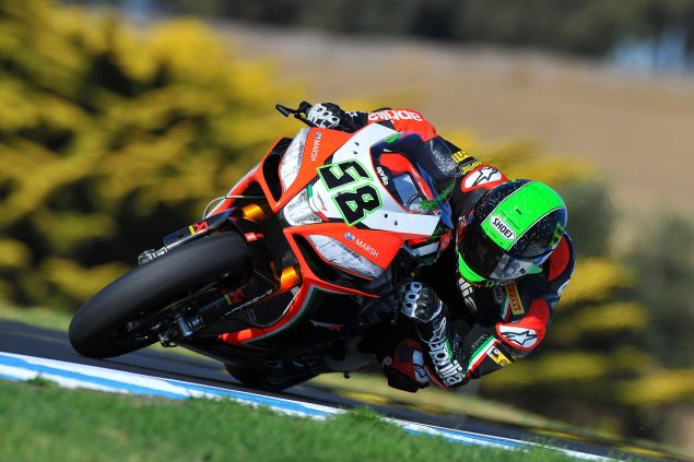 WSBK: Race Results for Race 2 at Phillip Island Eugene Laverty Aprilia Racing WSBK Phillip Island 635x423