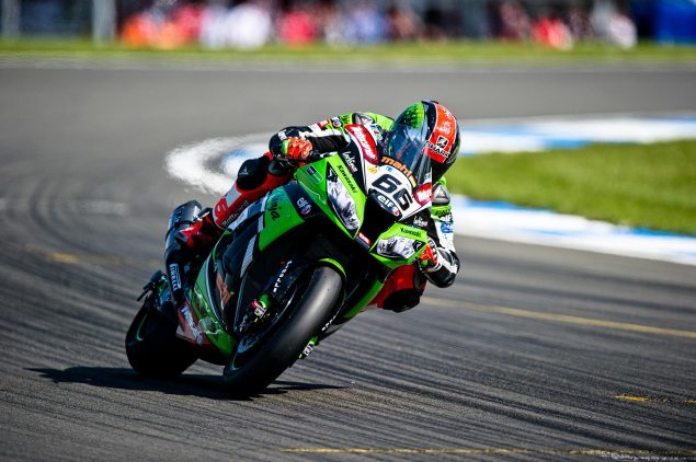 WSBK: Race Results for Race 1 at Donington Park tom sykes kawasaki racing wbsk donington park 635x422