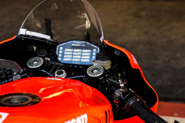 MotoGP: A Ducati Desmosedici GP13 Production Racer? 2013 Desmosedici GP13 LCD dash Jensen Beeler 635x421