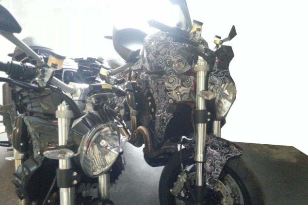 Spy Shots: A New Water Cooled 1198cc Ducati Monster? 2014 ducati monster 1198 water cooled spy photo 04