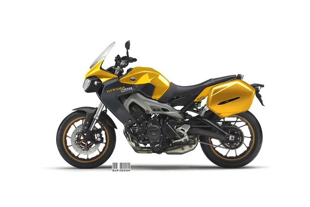 Yamaha MT DM 850 Concept by Luca Bar Design Yamaha MTDM Concept Luca Bar Design 02 635x425