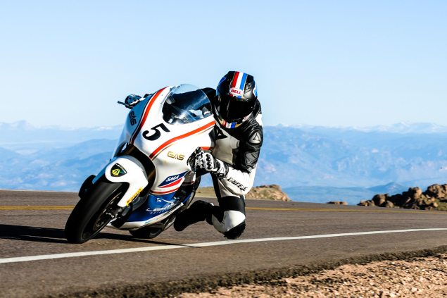 Pikes Peak International Hill Climb Will Have Major Spectator Restrictions for 2014 and Onward for Safety carlin dunne pikes peak international hill climb lightning motorcycles jensen beeler 635x423