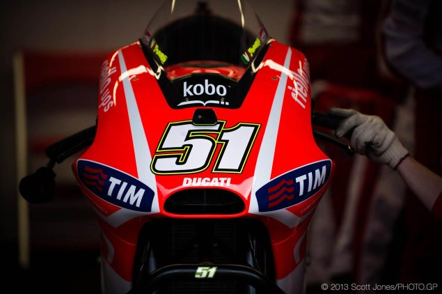 MotoGP: Max Biaggi To Test Ben Spiess Ducati at Mugello, Michele Pirro To Replace Spies at Barcelona michele pirro ducati desmosedici gp13 lab bike motogp scott jones 635x422