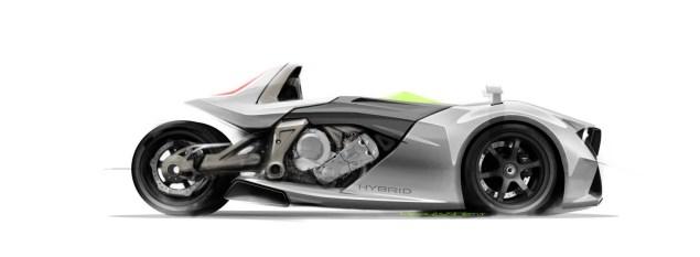 BMW K1600GT Hybrid 3 Wheeler Concept by Nicolas Petit BMW K1600GT 3 Wheeler Nicolas Petit 04 635x233