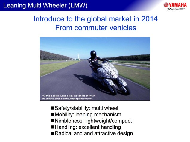 Yamaha Hints at Upcoming Leaning Multi Wheeler Yamaha LMW Leaning Multi Wheeler presentation 02 635x477