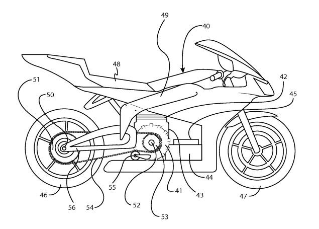 Erik Buell Racing Patents Hybrid Motorcycle Design Erik Buell Racing hybrid motorcycle patent 02 635x455