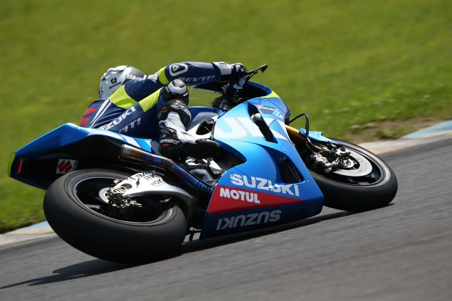 Photos: Suzuki MotoGP Team Testing at Motegi with RdP Suzuki Racing MotoGP Motegi test 04 635x423