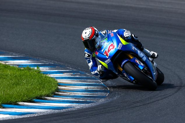 MotoGP: Randy de Puniet & Davide Brivio Talk About Suzuki Racing Testing at Motegi randy de puniet motegi motogp suzuki racing 635x423