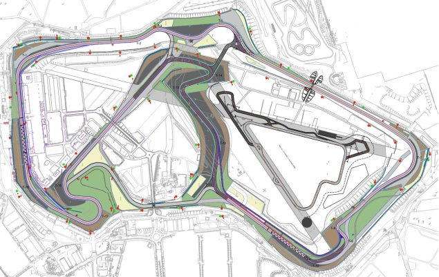 Wednesday Summary at Silverstone: Yamaha Territory, Racing at Home, & The Future of the British Grand Prix silverstone circuit track map 635x401