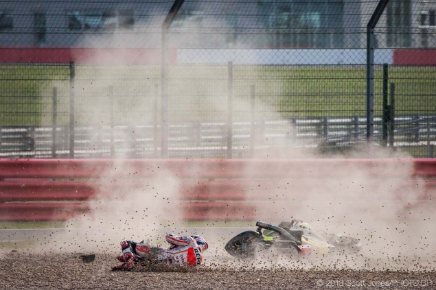 MotoGP: Marc Marquez Given Two Penalty Points for Crash Sunday Silverstone British GP MotoGP Scott Jones 21 635x423