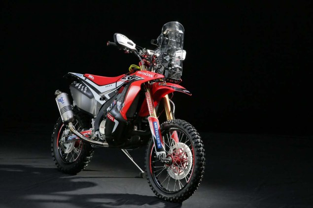 HRC Shows Off the 2014 Honda CRF450 Rally Race Bike 2014 Honda CRF450 Rally 14 635x423