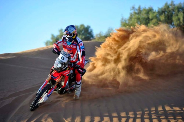 HRC Will Provide the Honda CRF450 Rally to Privateers 2014 Honda CRF450 Rally Metzler team 05