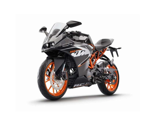 First Photos of the KTM RC125 & KTM RC200 2014 KTM RC125 black 02
