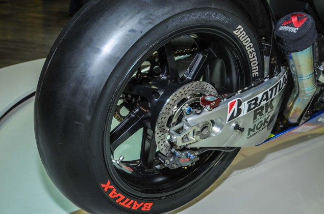 Up Close with the Suzuki XRH 1 MotoGP Race Bike Suzuki MotoGP race bike EICMA 02 635x421