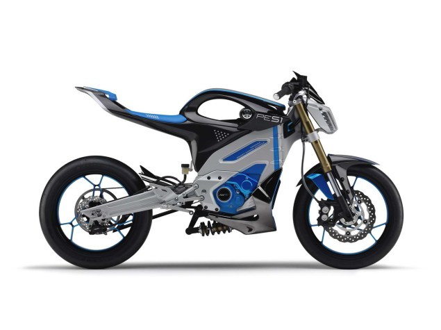 Looks Like the Yamaha PES1 Electric Street Bike Is a Runner Yamaha PES1 electric concept 03 635x475