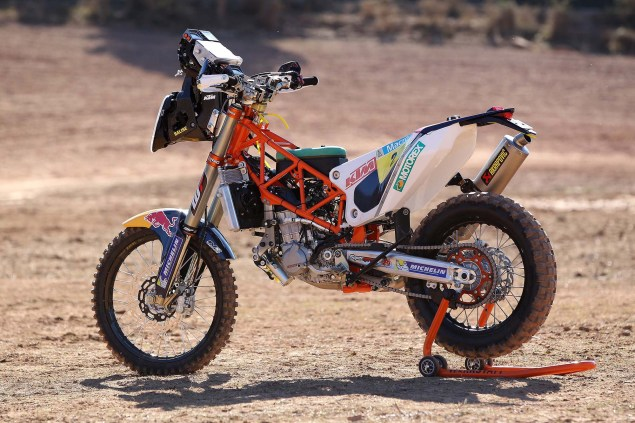 XXX: 13 Photos of the 2014 KTM 450 Rally Buck Naked 2014 KTM 450 Rally race bike 01 635x423